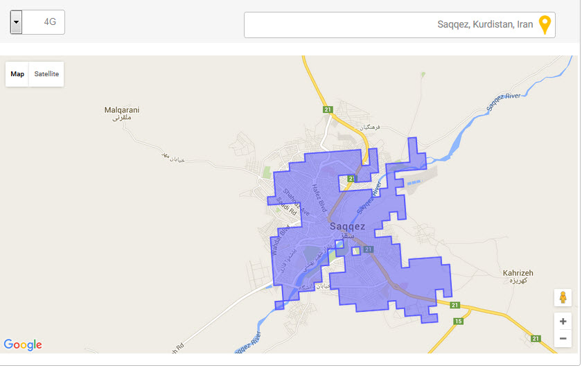 شبکه 4G در شهرستان سقز سراسری شد