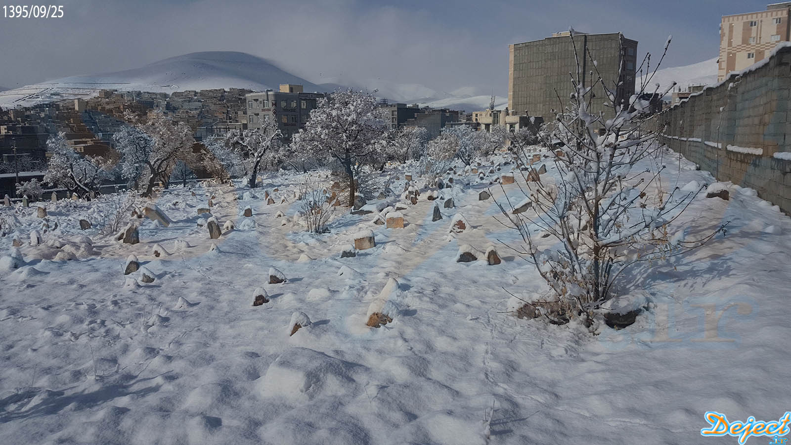 بارش برف در شهرستان سقز 1395/09/25